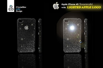 IPHONE 4S SWAROVSKI WITH LIGHTED APPLE LOGO