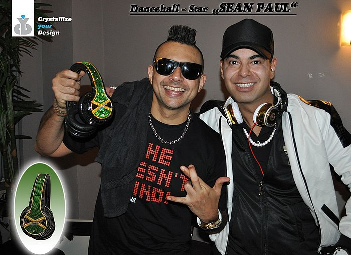DANCEHALL-STAR SEAN PAUL Kopfhörer MADE WITH SWAROVSKI ® (von uns für Sean Paul)