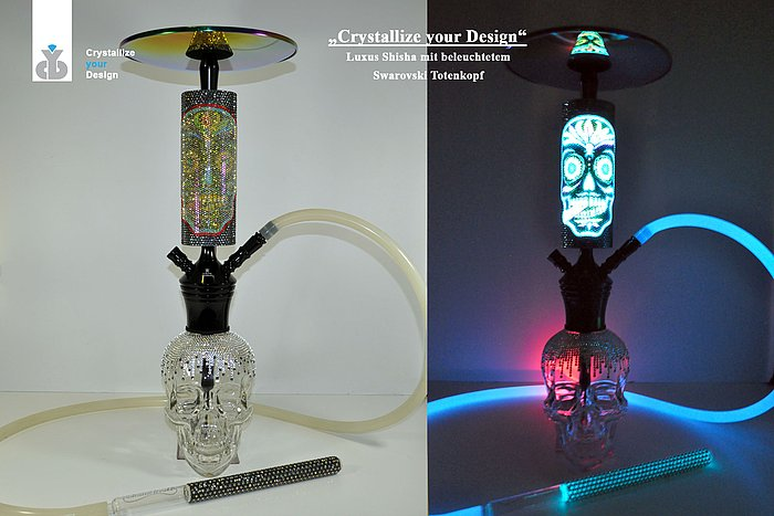 Crystal Head Shisha LED MADE WITH SWAROVSKI ®